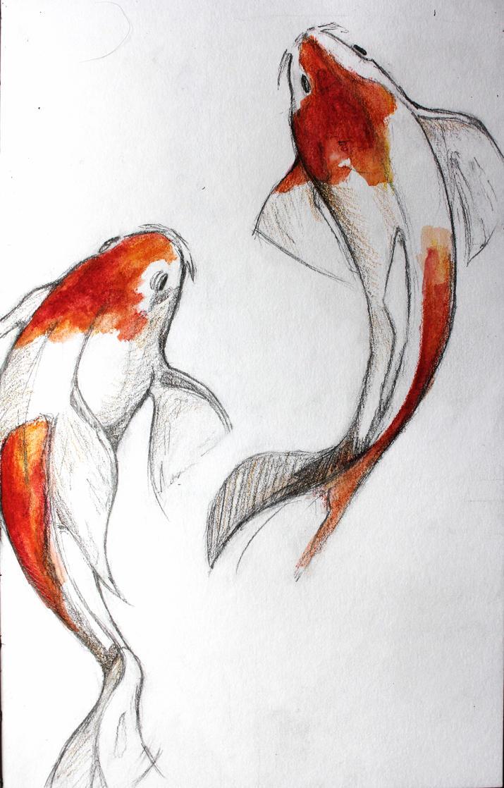 Koi fish by lulupapercranes on deviantart for Koi carp artwork