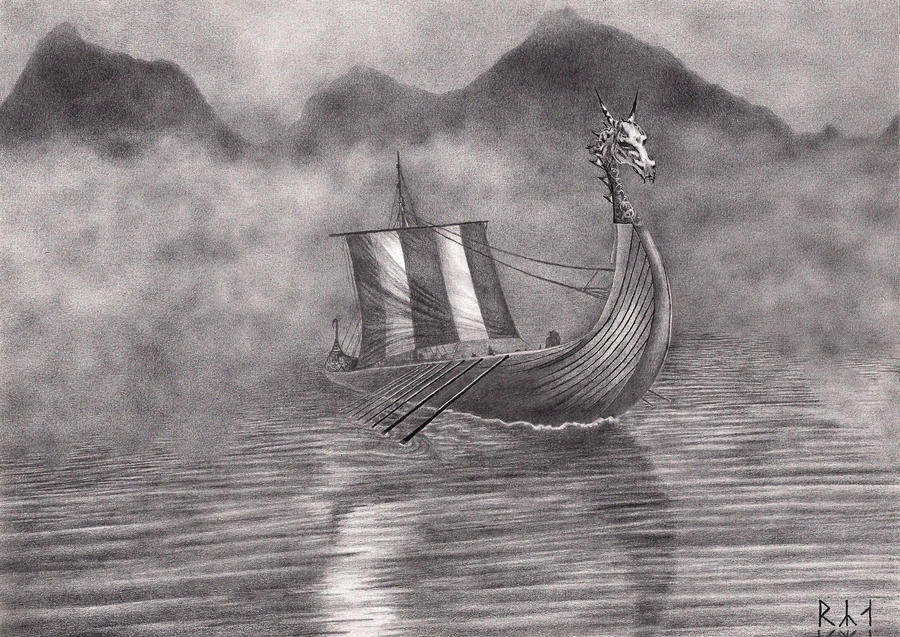 Viking ship by rya1989 on deviantart for Viking pencils