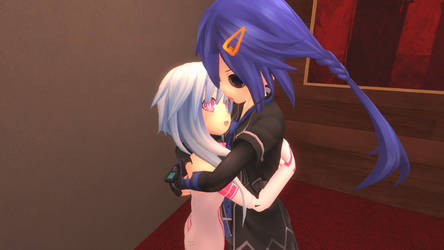 Kurome And White Sister Rom Hugging