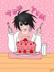 .:L's Strawberry Shortcake:. by roku-kitty