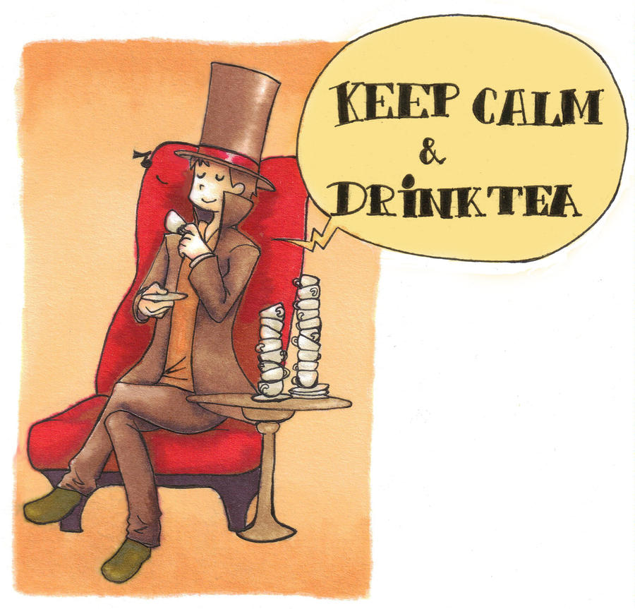 keep calm and drink tea by claire-pouette