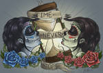 Time Never Stops: tattoo design