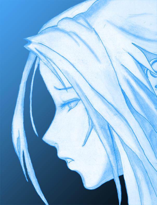 Sad Girl Face Blue By Suri Yokoshima On Deviantart