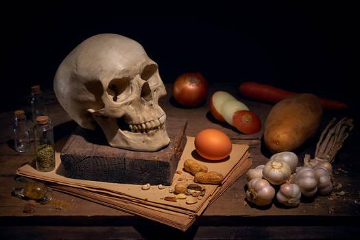 Skull on table 1