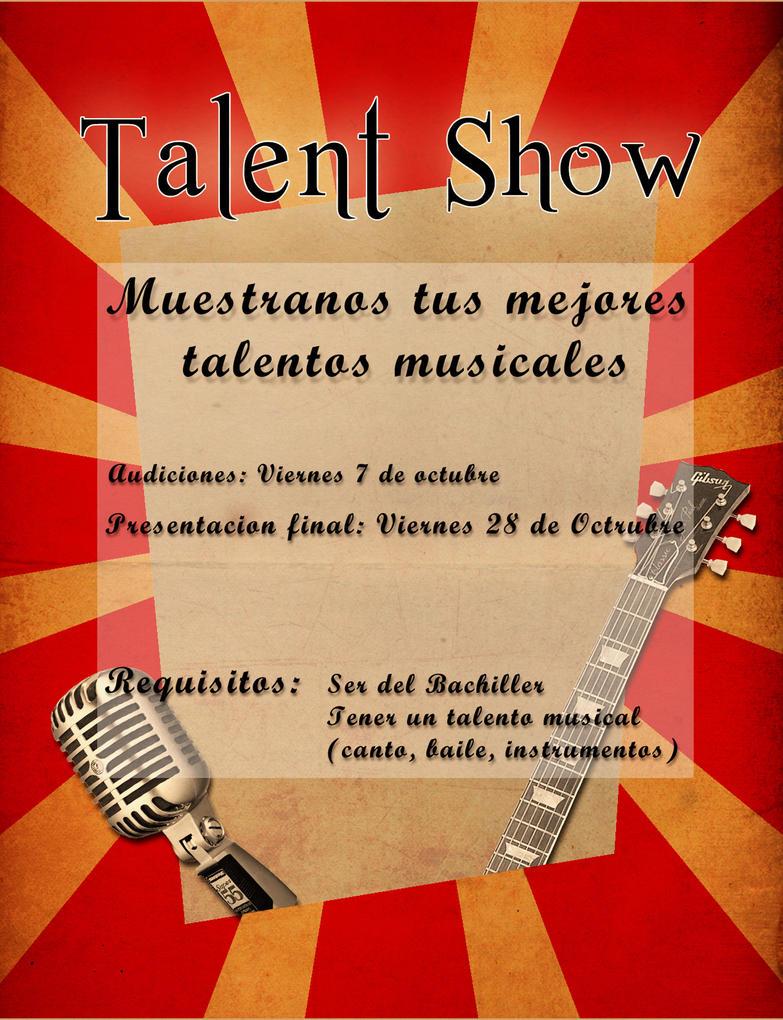 Talent Show flyer sketch by PinwinoBlood on DeviantArt