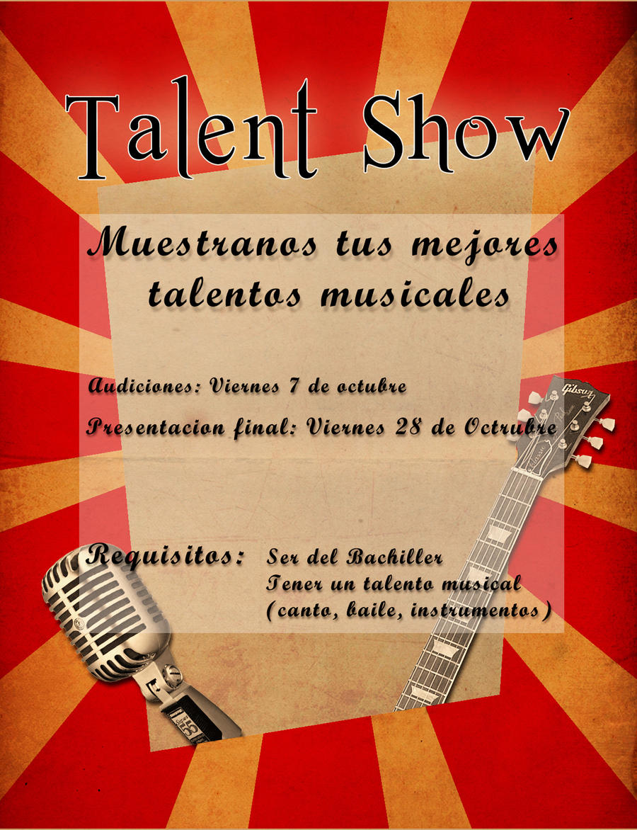 talent show flyer sketch by pinwinoblood talent show flyer sketch by pinwinoblood