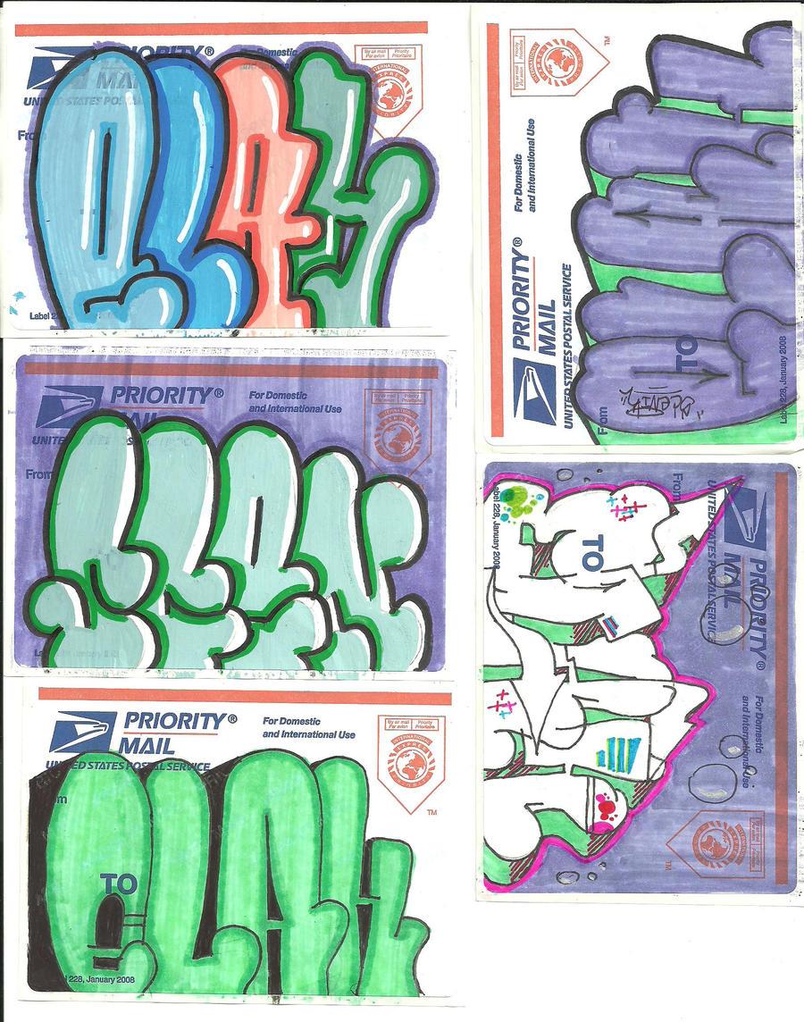 Graffiti Stickers Hello My Name Is Graffiti stickers by
