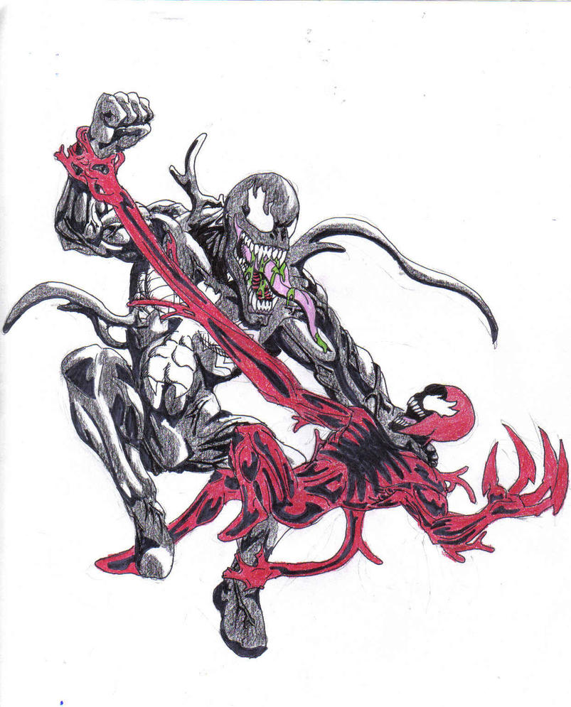venom vs carnage by seanvellos on DeviantArt