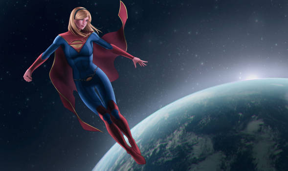 Supergirl oversee the earth