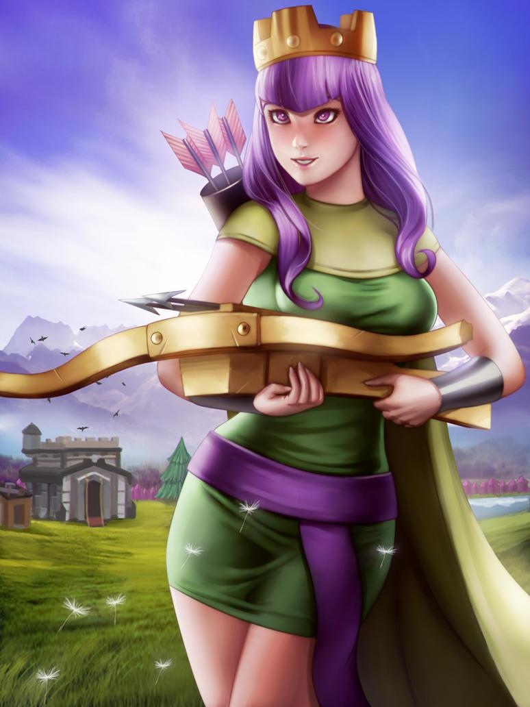 Archer Queen (ClashOfClan) by Moonarc on DeviantArt