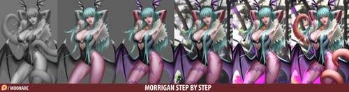 Morrigan Aensland Darkstalker Step by Step
