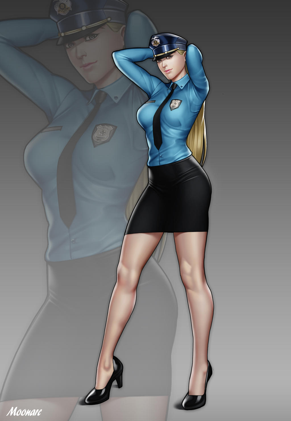 Tessa Knight by Moonarc on DeviantArt Futuristic Police Officer