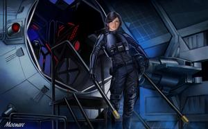 Major Fene Gerard TIE Interceptor Pilot by Moonarc