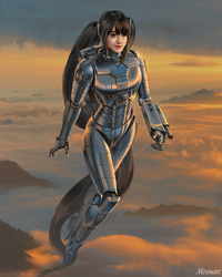 Cyber Girl  above the Cloud