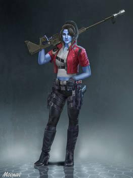 Female Chiss Bounty Hunter