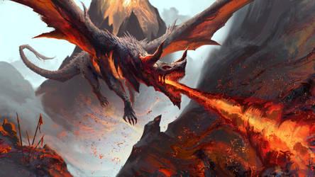 Dragon Fire by RichardLayArt