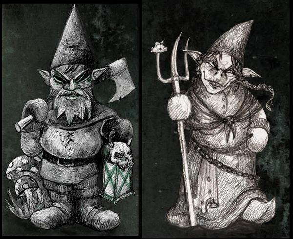 Evil Garden Gnomes By Grunnet On Deviantart