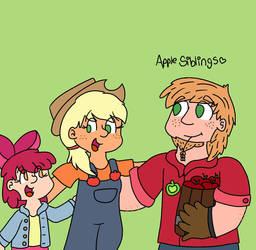 The Apple Siblings  by RainbowHeartPony