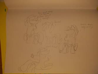 Applejack sketches  by RainbowHeartPony