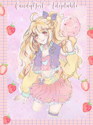 Pastel Candy Girl Adoptable (Open) by gummeipie