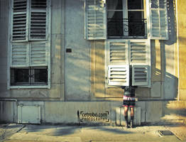 Two windows and a woman by cetrobo