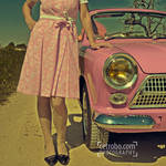 My pink car by cetrobo