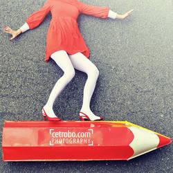 PENCIL GIRL by cetrobo