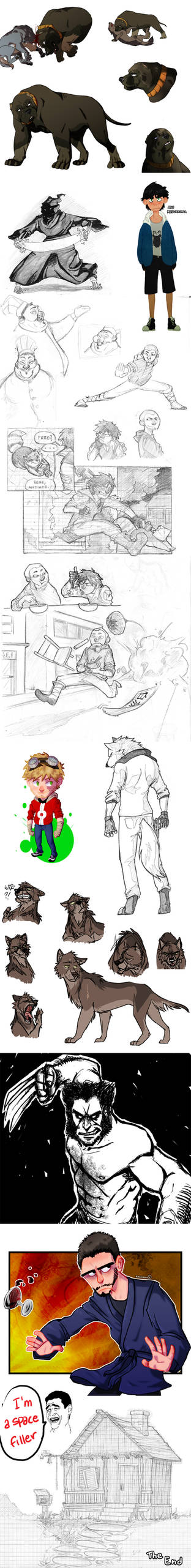 Sketch dump 3 by Raccoon5