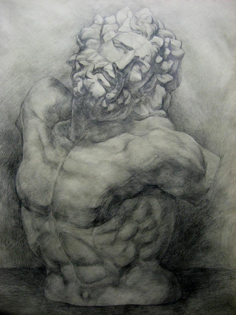 Laocoon's torso by ChongGuo on DeviantArt