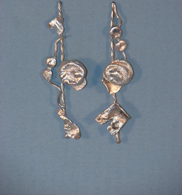 Line Art Earrings : Laundry line earrings by cherkoowho on deviantart