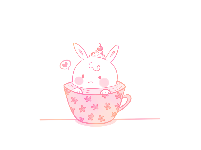 bunny in a teacup by deviruchii