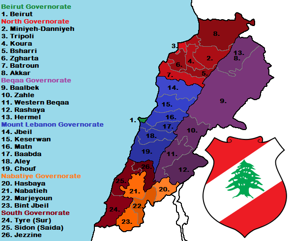 Detailed Map of Lebanon by bolter21 on DeviantArt