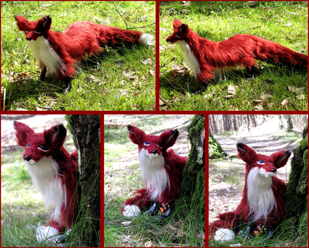 My first poseable art doll fox! Handmade by 1Kasumi