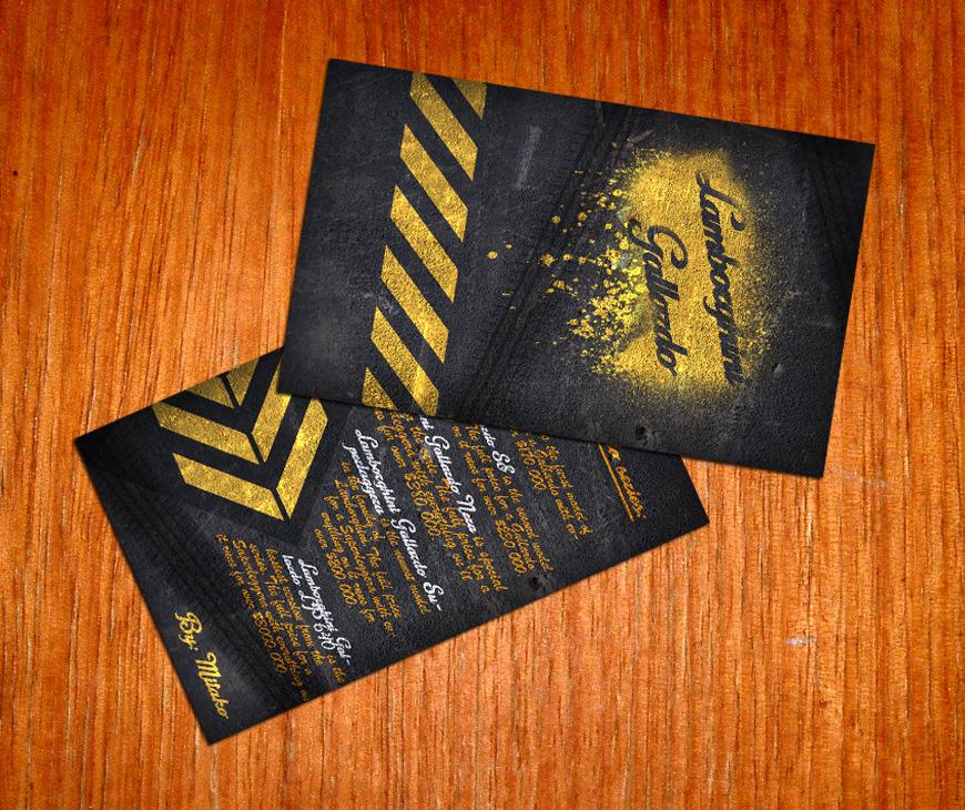 Lamborghini Business Cards By MitakoBG