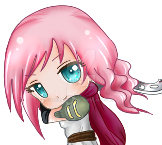 Chibi Lightning | Final Fantasy XIII by LunaSyney