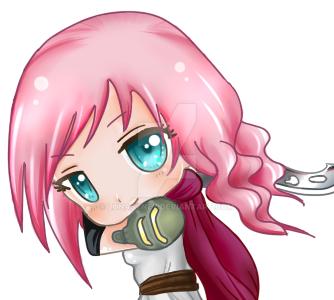 Chibi Lightning | Final Fantasy XIII by LunaSyney