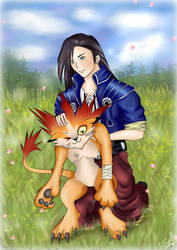 Laguna Loire and Moomba   Final Fantasy VIII by LunaSyney