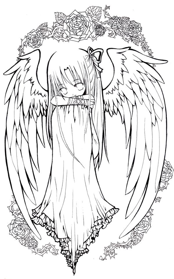 Line Art Angel : Angel lineart by effier sxy on deviantart