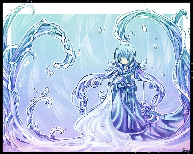 【元素】水/冰 - 青芸。三叶 - 浮芸团子