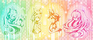 Vocaloid x4 by Effier-sxy