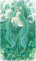 Miku Clover  Lady-Tears by Effier-sxy
