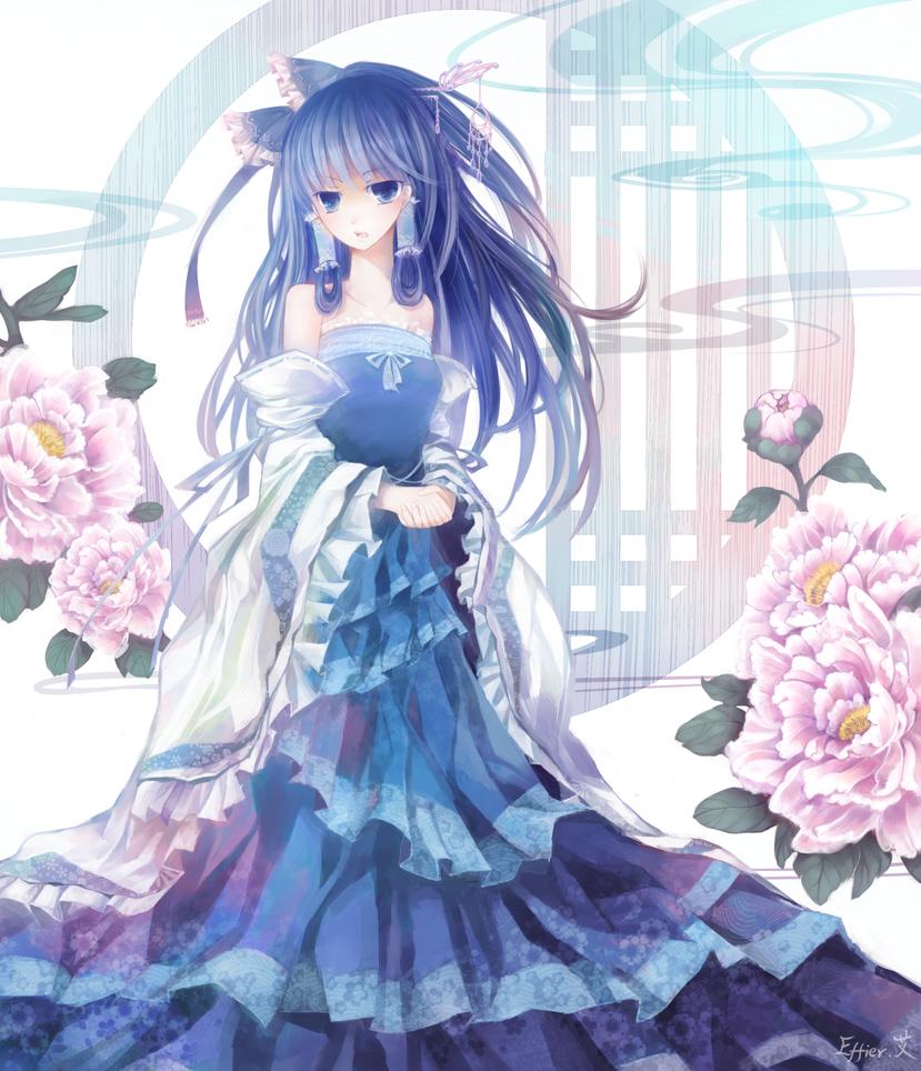 Blue Reimu by Effier-sxy