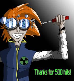 Orange-haired nerd.. 500 hits