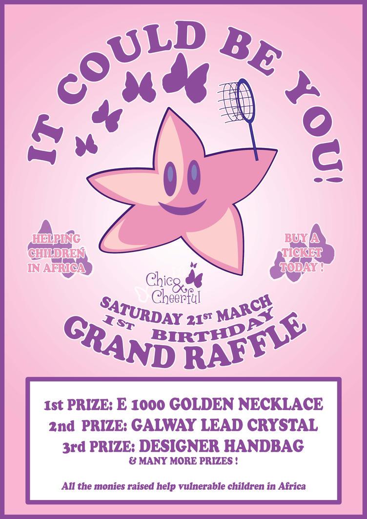 raffle poster by bumpyourhead on raffle poster by bumpyourhead