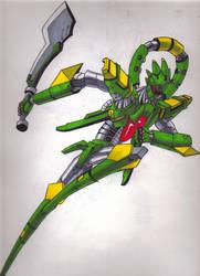 Mecha- Sword axe orbital frame by GDan
