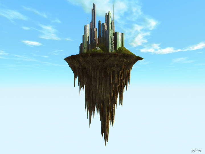 Floating Island by DudQuitter on DeviantArt