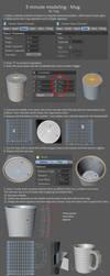 5 minute modeling - Mug by DudQuitter