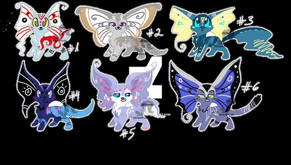 Papilloon Adoptables by PrinceBarkin