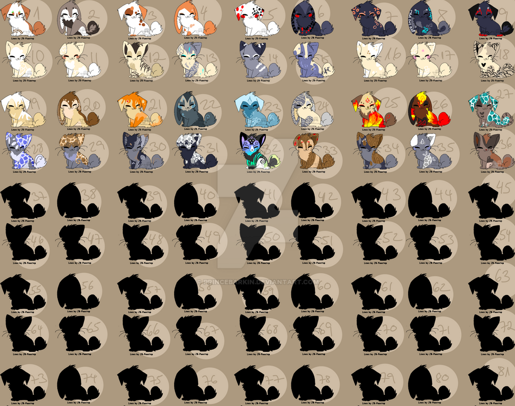 Mega Sheet Adoptables - moved by PrinceBarkin