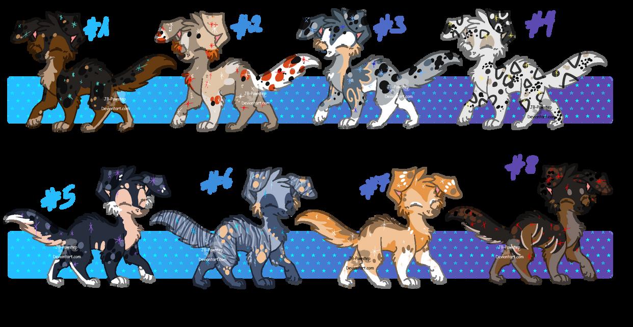 Adoptable Starfur Dogs - closed by PrinceBarkin